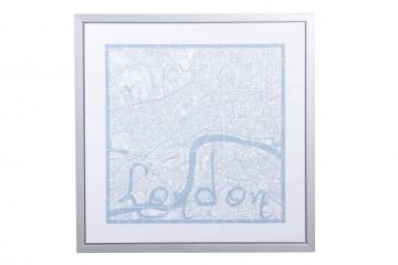 CUADRO MAPA LONDON 60x3x60 CM