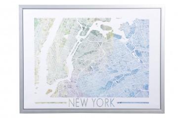 CUADRO MAPA NEW YORK 80x3x60 CM