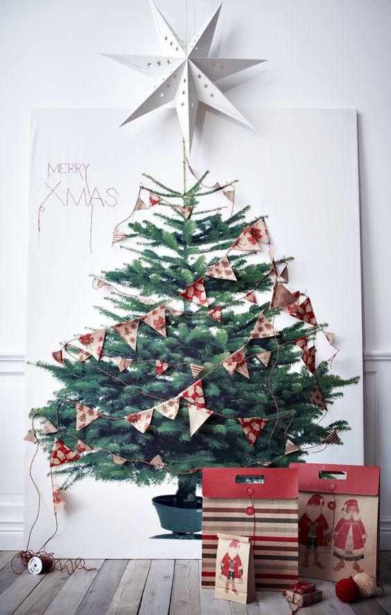 Árbol de Navidad impreso en un póster
