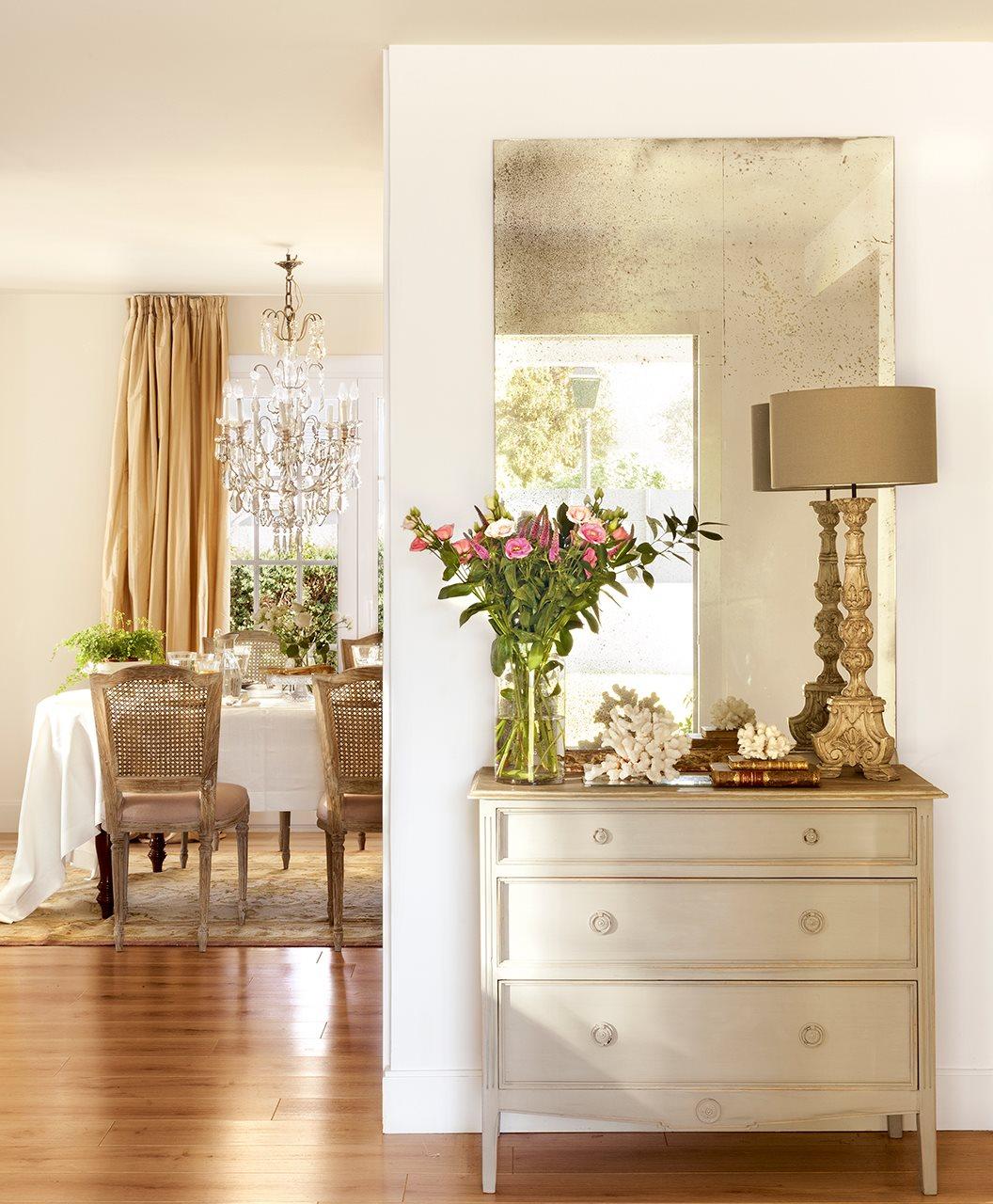 Decoracion De Recibidores Y Entradas Top Mueble Blanco Y Madera  ~ Decoracion De Entradas De Casas