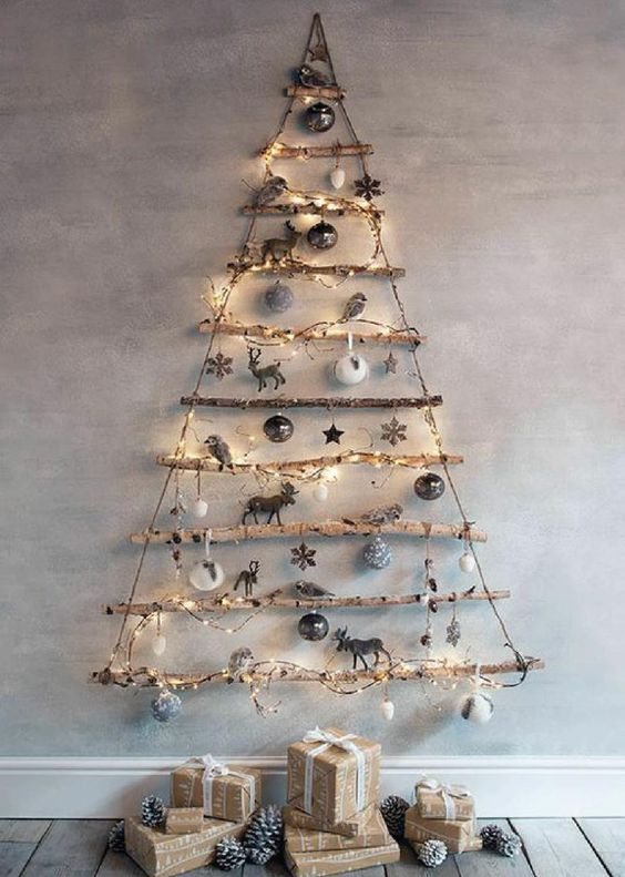 Árbol de Navidad con toques naturales
